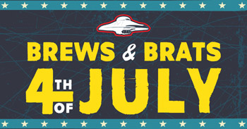 Garland bar Flying Saucer open for 4th of July craft beer and food to go