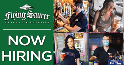 Now Hiring Servers, Bartenders, Managers, and Service Industry at Downtown Memphis Flying Saucer